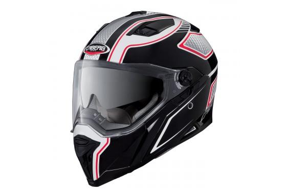 Casque Moto CABERG STUNT BLADE Noir - Blanc - Rouge