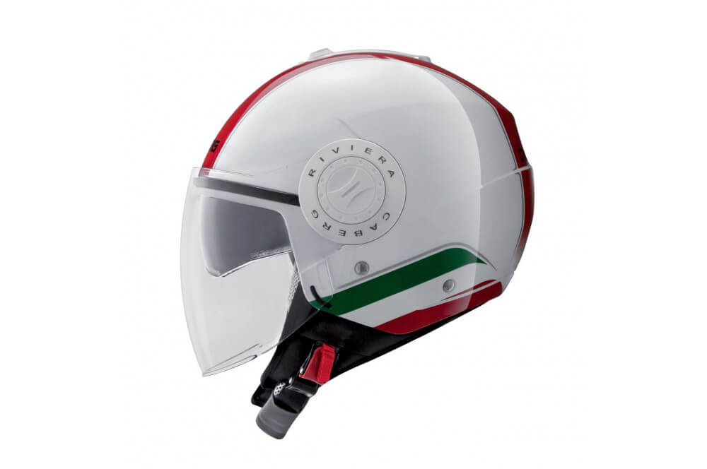 casque jet caberg riviera v3 italia blanc street moto piece. Black Bedroom Furniture Sets. Home Design Ideas