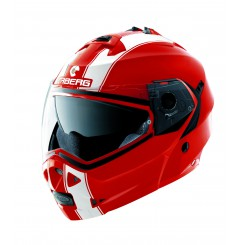 Casque Moto Modulable CABERG DUKE LEGEND Rouge - Blanc