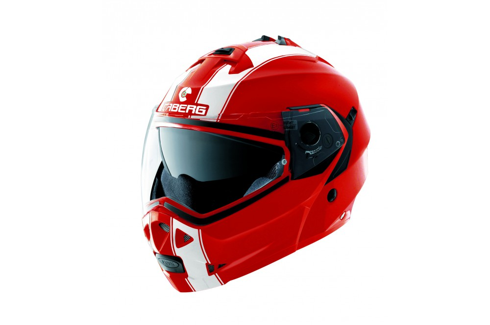 Casque Moto Modulable Caberg Duke Legend Rouge Blanc Street Moto