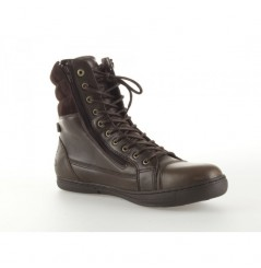 Bottines Moto 1964 SHOES CAFE RACER Marron