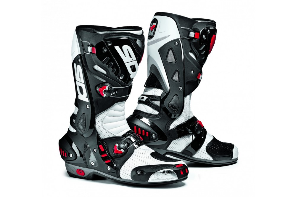 bottes moto racing sidi vortice air noir blanc street moto piece. Black Bedroom Furniture Sets. Home Design Ideas