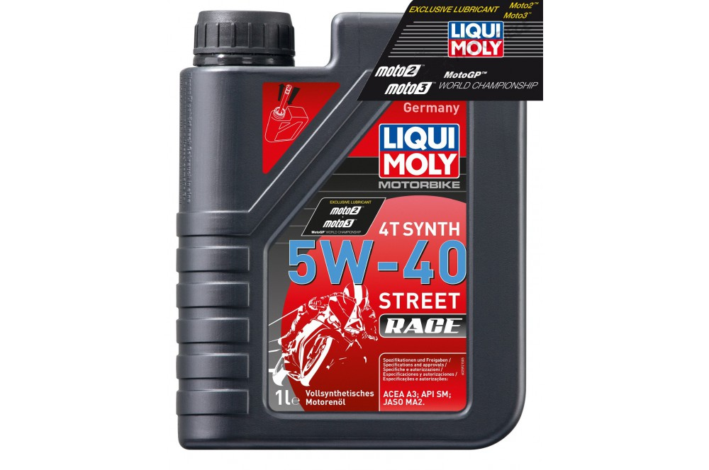 huile moto liqui moly 5w40 100 synth se motorbike race 1 litre street moto piece. Black Bedroom Furniture Sets. Home Design Ideas