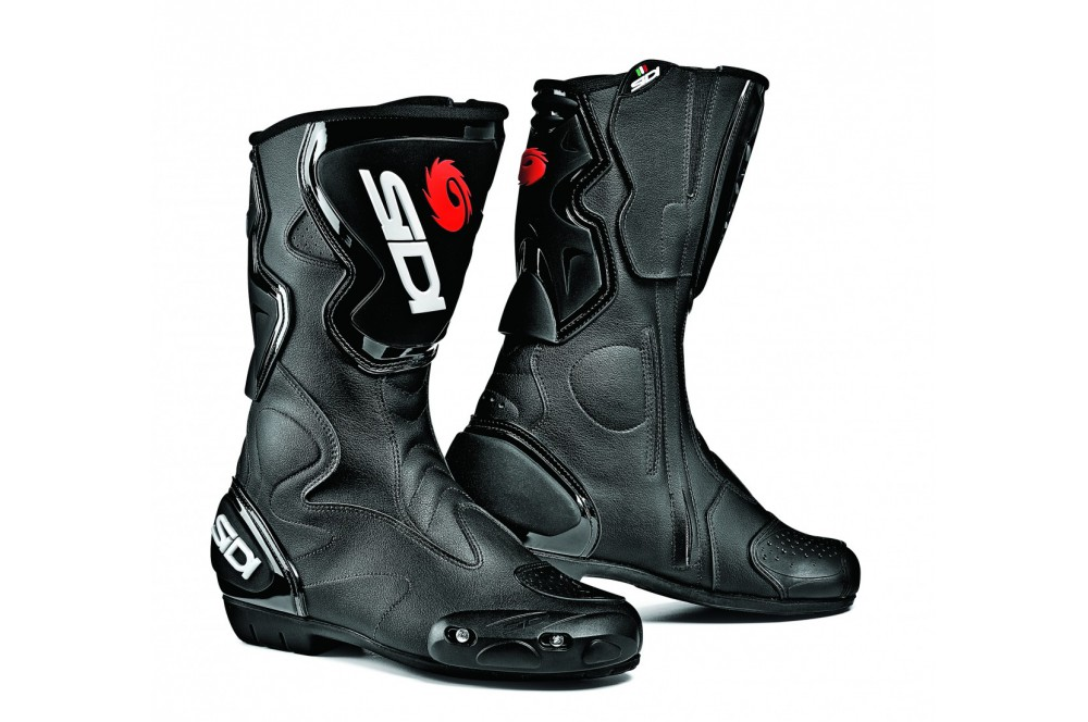 bottes moto racing sidi fusion noir street moto piece. Black Bedroom Furniture Sets. Home Design Ideas