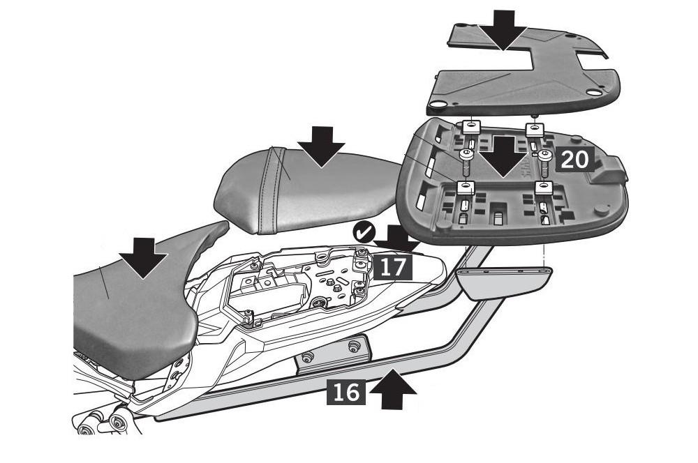 Support Top Case Shad pour MT07 (14-17) - Street Moto Piece 98c62b7f81e8
