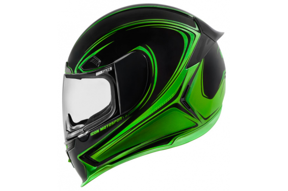 casque moto icon airframe pro halo noir vert street moto piece. Black Bedroom Furniture Sets. Home Design Ideas