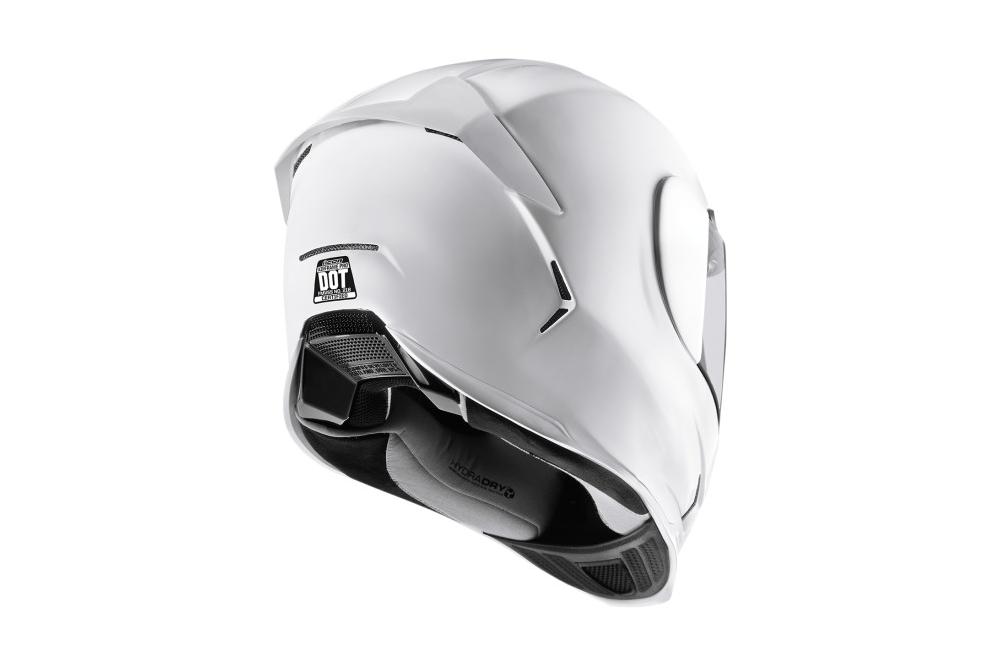 casque moto icon airframe pro gloss blanc street moto piece. Black Bedroom Furniture Sets. Home Design Ideas