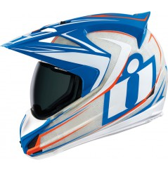 Casque Moto ICON Variant Raiden Blanc Bleu Orange