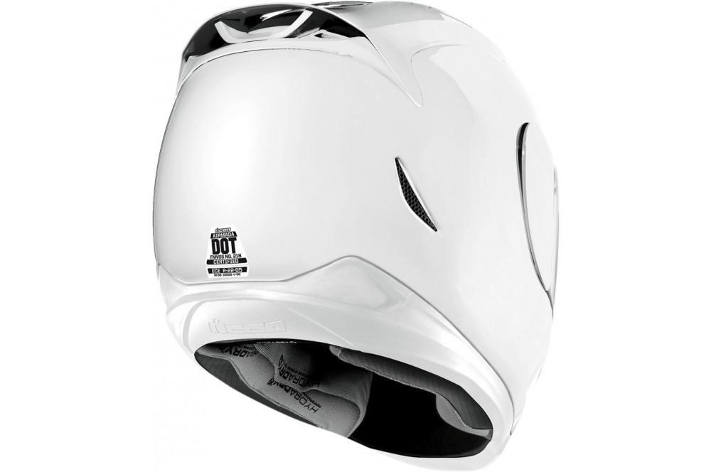 casque moto icon airmada gloss blanc street moto piece. Black Bedroom Furniture Sets. Home Design Ideas