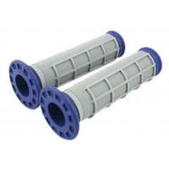 Poignée Quad RENTHAL Dual Compound Grips Bleu - Gris