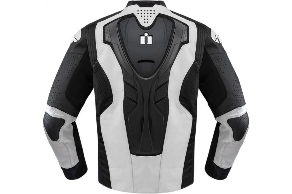 Street Moto Icon Blouson Homme Hypersport Primehero Cuir Blanc PXiuOZTk
