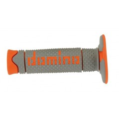Poignée Quad DOMINO Off - Road Full Grip Gris - Orange