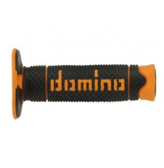 Poignée Quad DOMINO Off - Road Full Grip Noir - Orange