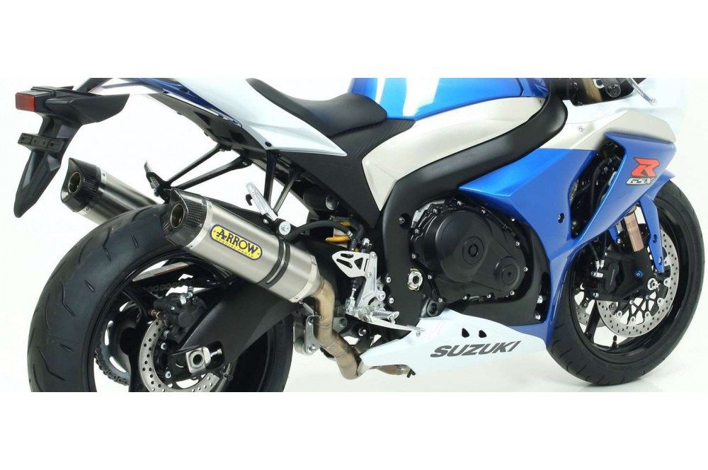 paire de silencieux arrow street thunder pour gsxr1000 09 11 street moto piece. Black Bedroom Furniture Sets. Home Design Ideas