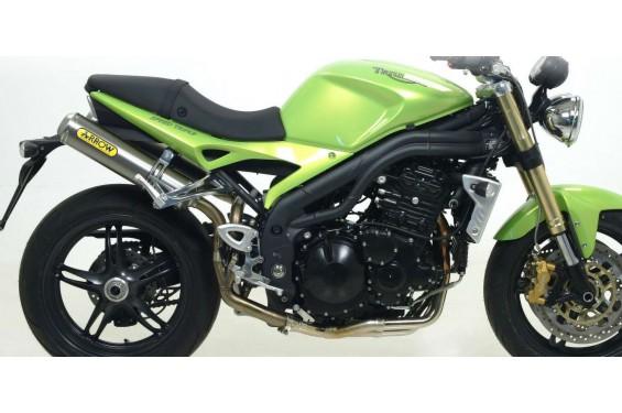 silencieux arrow round sil pour speed triple 1050 07 10 street moto piece. Black Bedroom Furniture Sets. Home Design Ideas