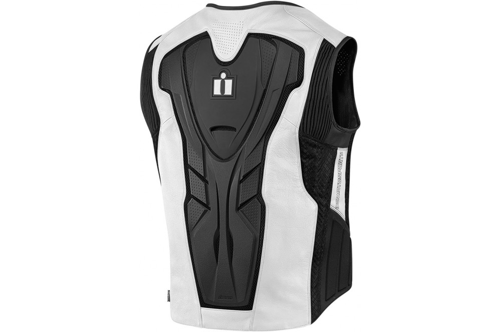 Street Blanche Sans Cuir Gilet Icon Prime Manches Hypersport Homme 8pcaAyT