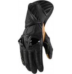 Gants Moto Racing ICON Hypersport Pro Long Noir