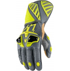 Gants Moto Racing ICON Hypersport Pro Long Jaune