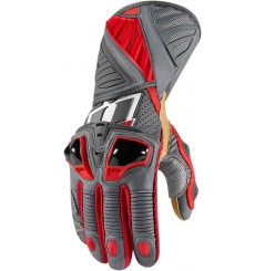 Gants Moto Racing ICON Hypersport Pro Long Rouge