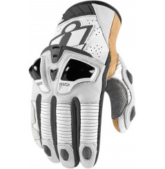Gants Moto Racing ICON Hypersport Pro Court Blanc
