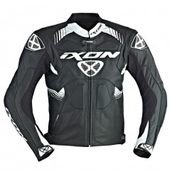 Blouson Cuir Racing Ixon VOLTAGE Noir - Blanc