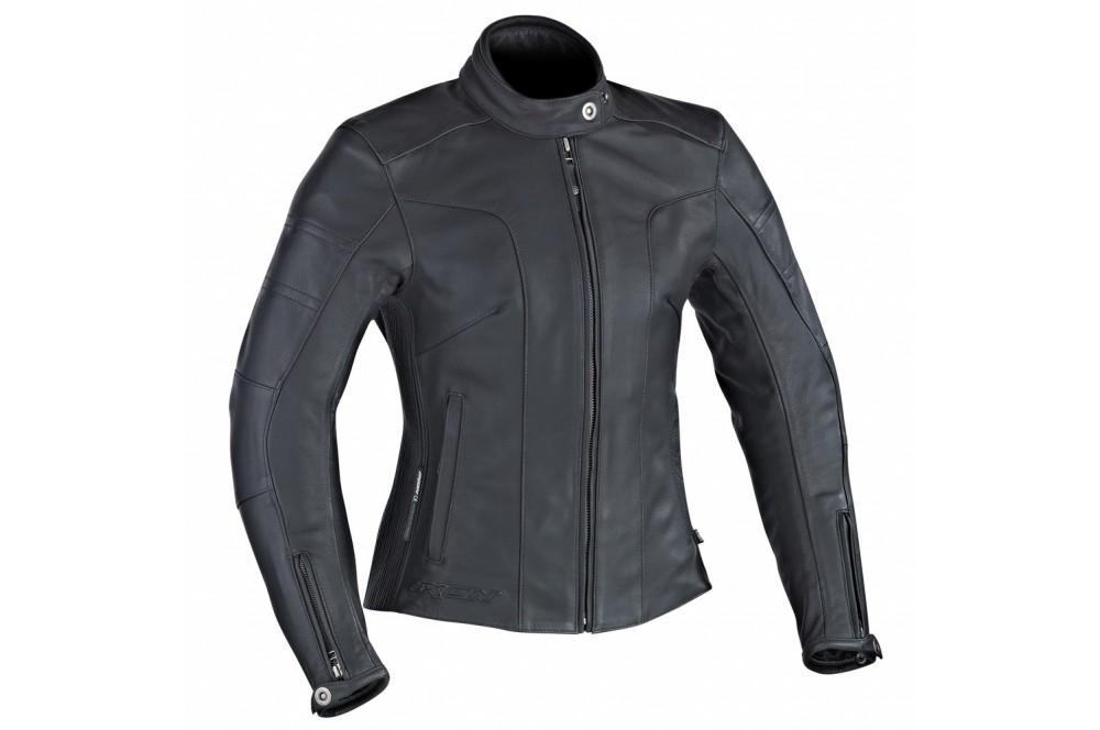 Ixon Femme Moto Piece Crystal Slick Street Blouson Noir Cuir WHRfnqypg1