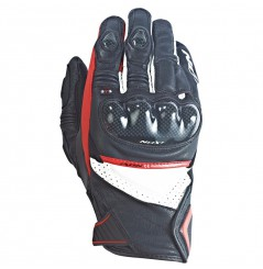 Gants Racing Moto Ixon Rs Pistol Hp Noir - Blanc - Rouge
