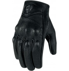 Gants Moto Street ICON Pursuit Perf Noir