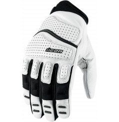 Gants Moto Street ICON Superduty 2 Blanc