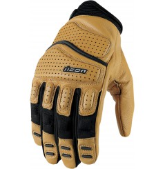 Gants Moto Street ICON Superduty 2 Cuir Brut