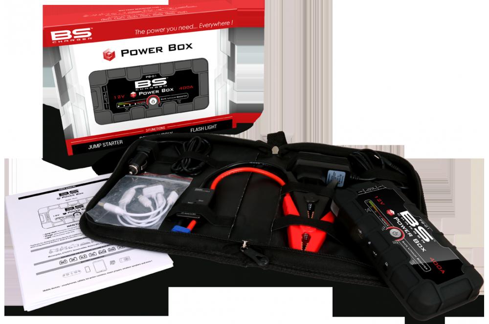mini booster de batterie bs powerbox pb 01 street moto piece. Black Bedroom Furniture Sets. Home Design Ideas