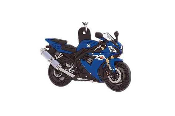 porte clefs 3d caoutchouc yamaha r1 2003 bleu street moto piece. Black Bedroom Furniture Sets. Home Design Ideas