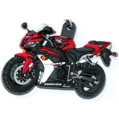Porte-Clefs 3D Caoutchouc HONDA CBR 600 RR 2007 Rouge / Noir
