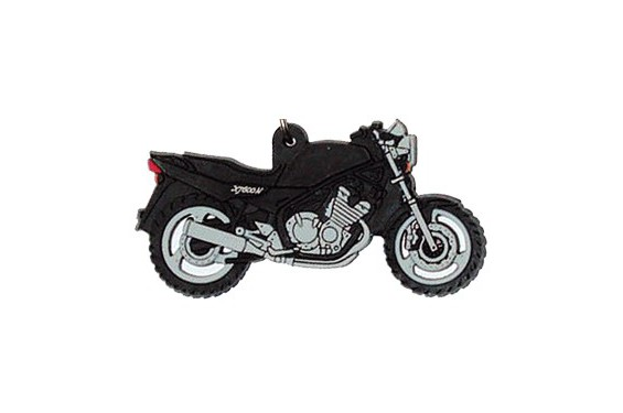 porte clefs 2d yamaha diversion 600 noir street moto piece. Black Bedroom Furniture Sets. Home Design Ideas