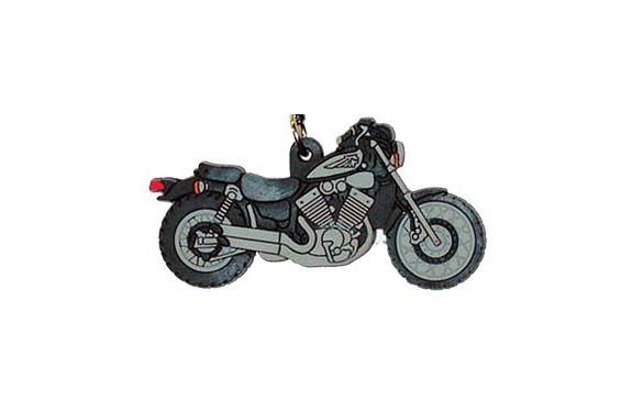 porte clefs 2d yamaha 535 virago noir gris street moto piece. Black Bedroom Furniture Sets. Home Design Ideas