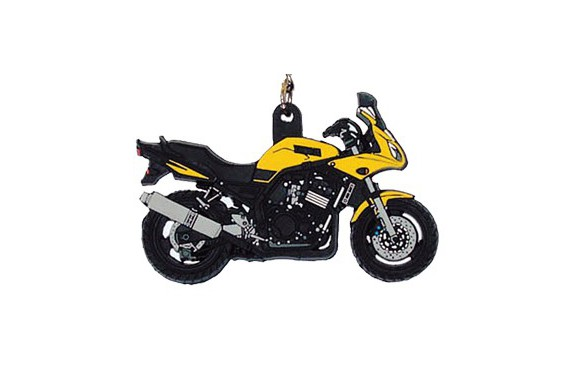 porte clefs 2d yamaha 600 fazer jaune street moto piece. Black Bedroom Furniture Sets. Home Design Ideas