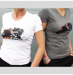 T-Shirt Femme Ixon UNION LADY Blanc