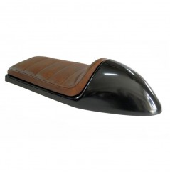 Selle Moto Speed marron Dosseret Brut