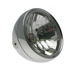 Phare Moto Classic Rond 180mm Chromé
