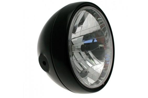 Phare Moto Classic Rond 180mm Noir