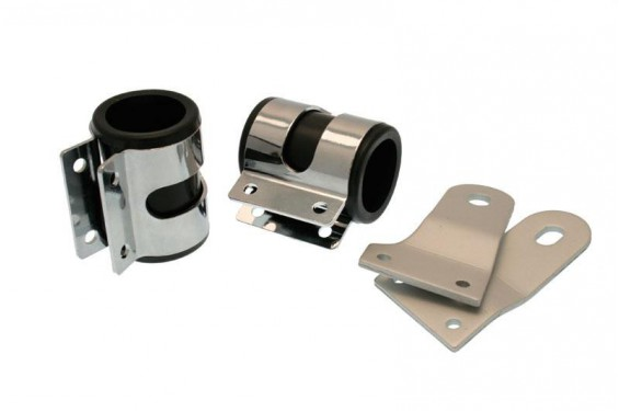 Supports de phare moto universels Ø35mm - Long. 65mm