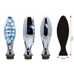 Clignotant LED Moto ELIPSE Chrome