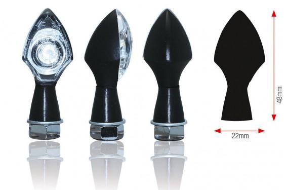 Clignotant LED Moto Homologué POWER noir