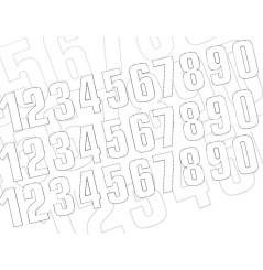 Kit Numéro De Course 130 x 70 mm Blanc Moto / Quad