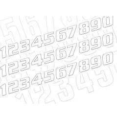 Kit Numéro De Course 200 x 250 mm Blanc Moto / Quad