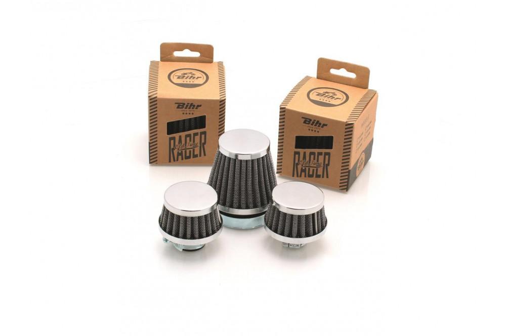 filtre air moto universel conique chrom 55mm street moto piece. Black Bedroom Furniture Sets. Home Design Ideas