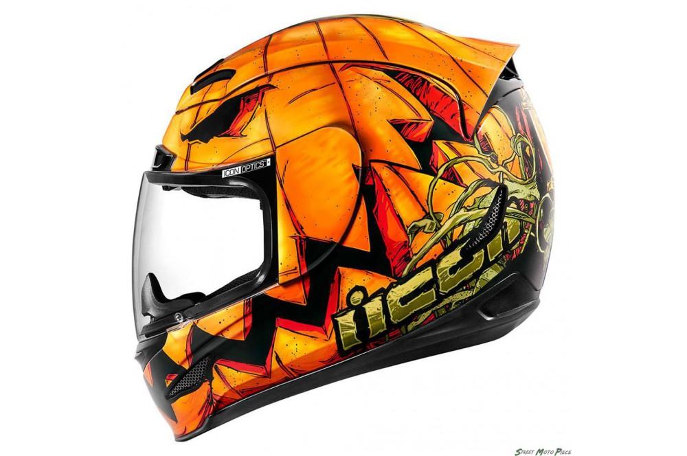 Casque Moto Icon Airmada Trick Or Street Orange Street Moto Piece