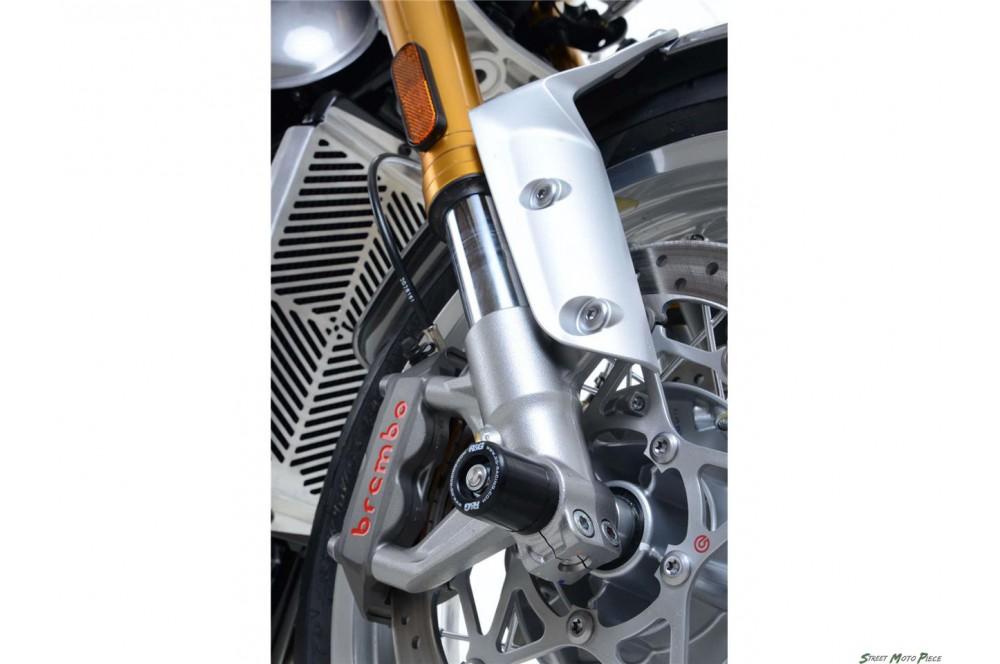 roulettes de protection de fourche r g pour thruxton 1200 2016 street moto piece. Black Bedroom Furniture Sets. Home Design Ideas