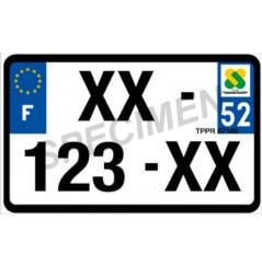 Plaque d'Immatriculation Moto Plexi Homologuée 210x145