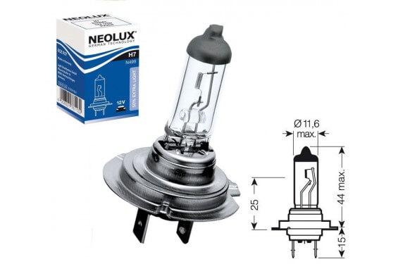 Ampoule H7 12V-55W NEOLUX pour Moto-Quad-Scooter